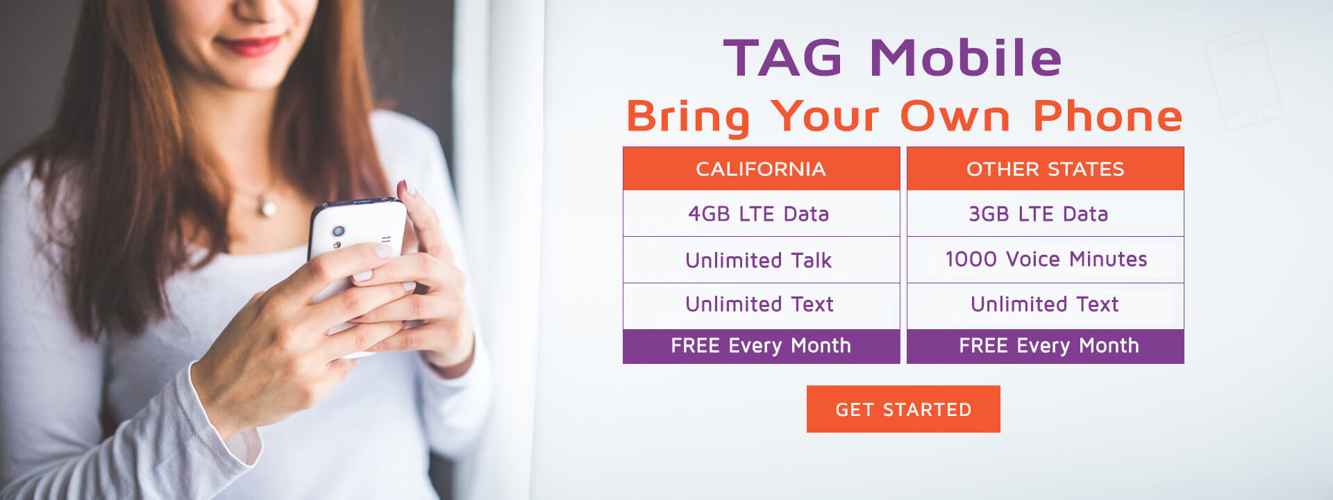 Bring Your Own Phone, BYOP plan California and Other State