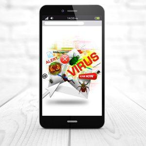 Smartphone infected virsu