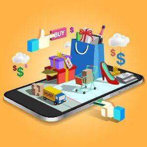 Online shop through smartphone